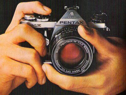 Anuncio cámara PENTAX 1978
