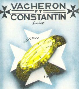 Vacheron y Constantin. Anuncio de 1952