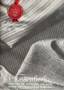 Anuncio tejidos FONTEUBERTA 1952