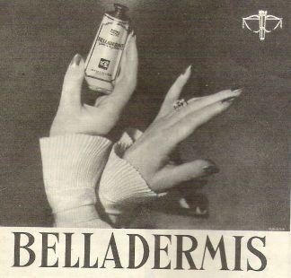Anuncio crema BELLADERMIS 1952