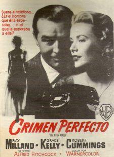Póster película CRIMEN PERFECTO 1954