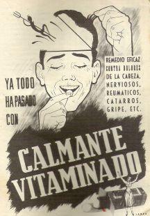 Anuncio calmente Vitaminado 1954