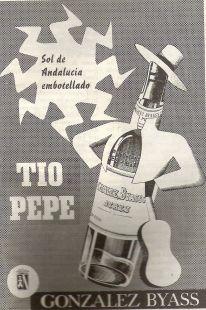 Anuncio TIO PEPE 1954