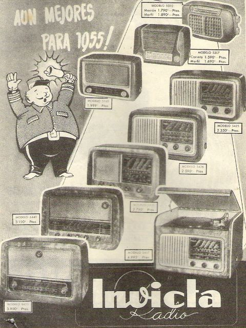 Anuncio radio INVICTA 1954