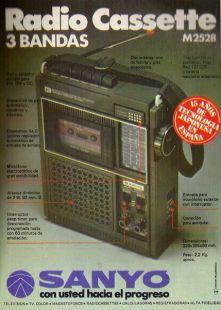 Anuncio radio cassete SANYO 1978