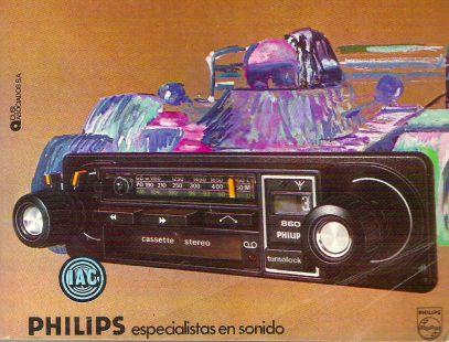 Anuncio Radio cassete stereo PHILIPS 1978