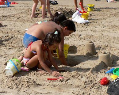 Concurso castillos de arena.