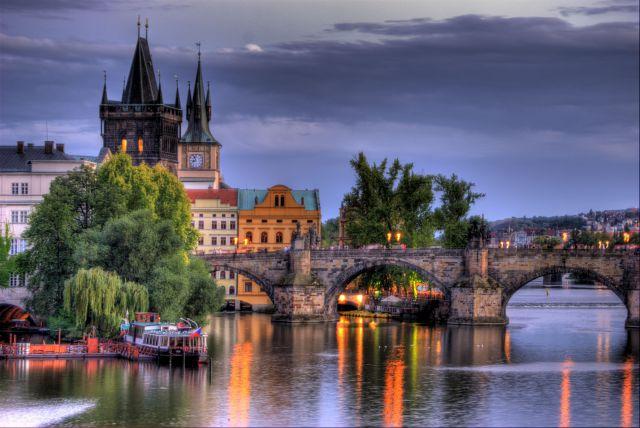 Praga, puente de Carlos HDR