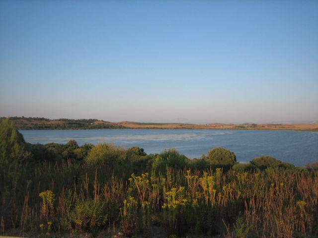 Laguna de Medina al atardecer