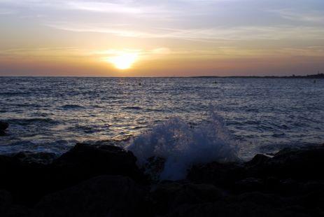 El mar al atardecer.