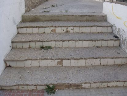 Escaleras de una ciudad de 1