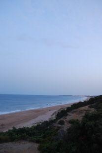 Amanecer en la playa.