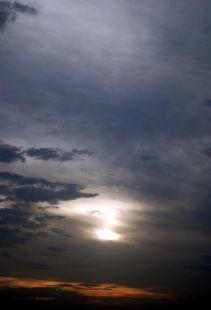 Al atardecer, estas nubes toman un color especial.