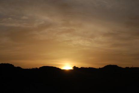 El sol en su atardecer.