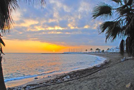 Atardecer en la Playa de Marbella