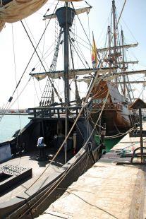 Tres Galeones en el puerto de Cádiz