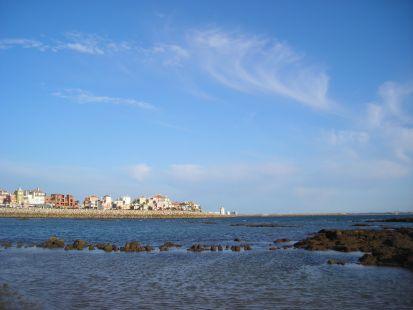 En la playa de Puerto Sherry