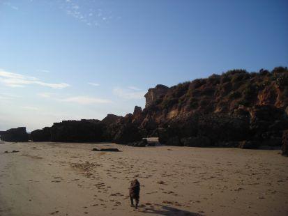 En la playa con lolita.