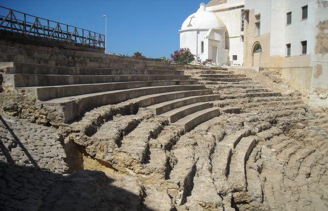 El teatro romano de Cádiz.