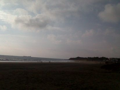 Un día de paseo por la playa.