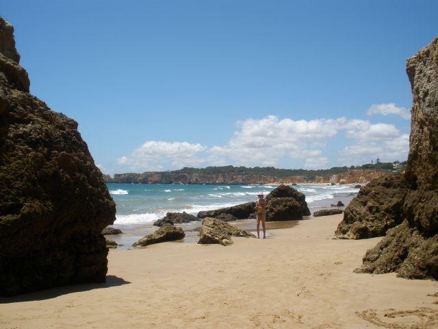 En las playas de Portugal.