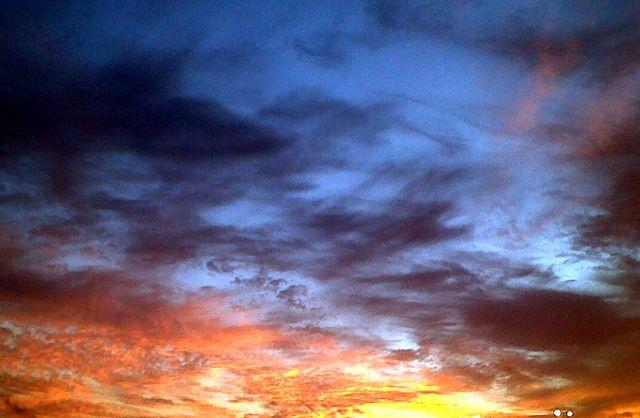 El cielo de hoy en Cádiz.