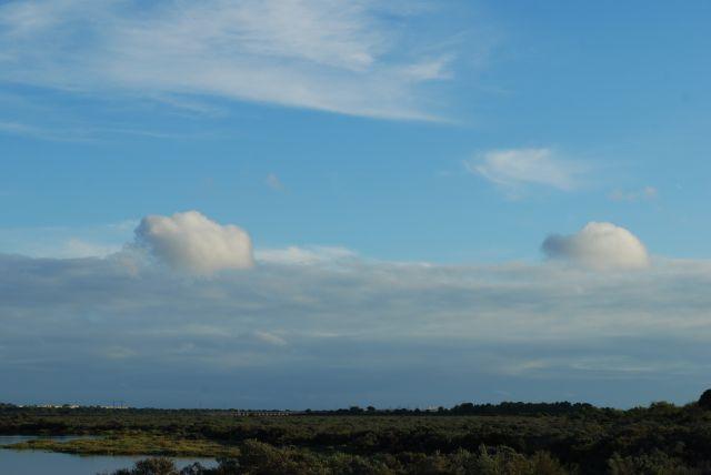 Las nubes cargadas de agua.