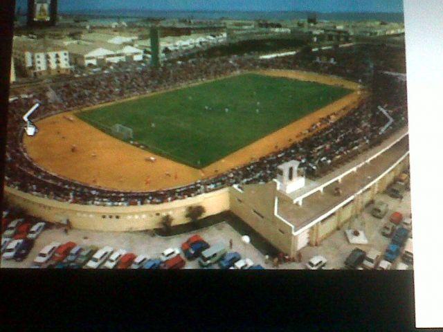 Antiguo estadio de Cadiz carranza, cuando pasaba el tren y tocaba la el pito jiji bonitos momentos y unicos.
