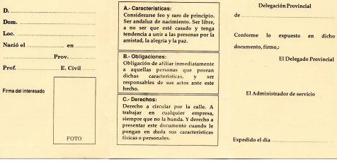 CARNET  DELA UFRA CONDICIONES PARA SER SOCIO EN ESTE CLUB ORIGINAL DE JEREZ .