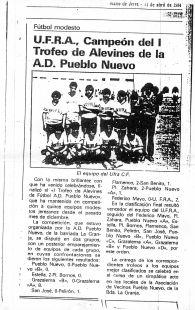 KIKO CAMPEON CON PRIMER CLUB  EL UFRA CF