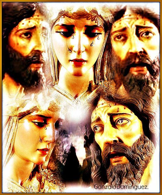 Oracion del huertoy María Santísima de la Esperanza.