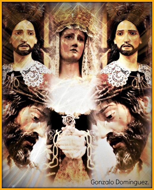 Padre Jesús del Ecce-Homo, María Santísima de las Angusitas y San Juan Evangelista.