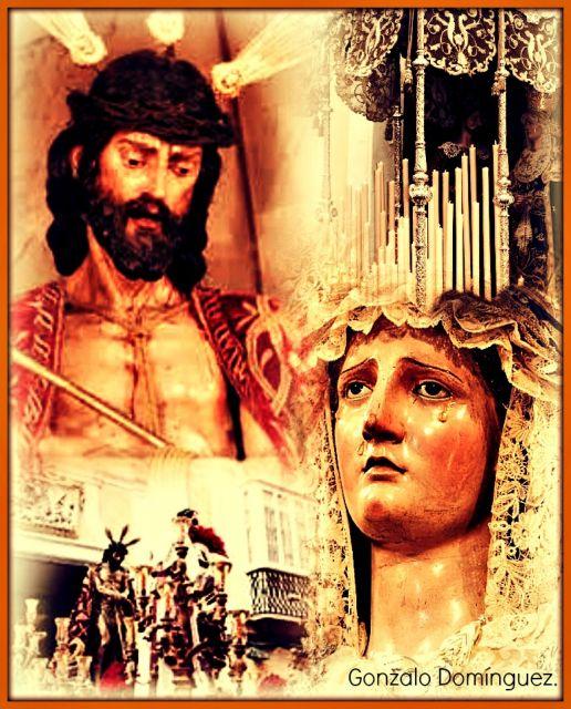 Padre Jesús del Ecce-Homo, María Santísima de las Angusitas y San Juan Evangelista, y Iglesia de la Conversión de San Pablo,