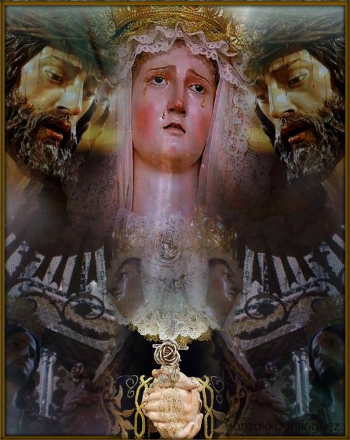 Padre Jesús del Ecce-Homo, María Santísima de las Angusitas y San Juan Evangelista, y Iglesia de la Conversión de San Pablo, Calle Ancha, Cádiz.