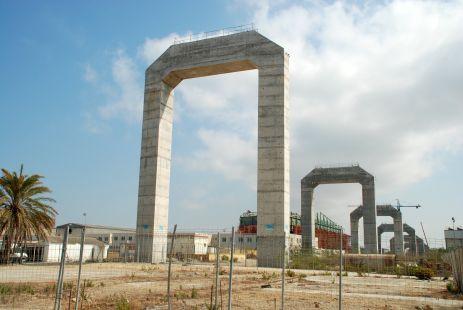 Fotografiando el Río San Pedro, construcción II Puente a Cádiz 2013