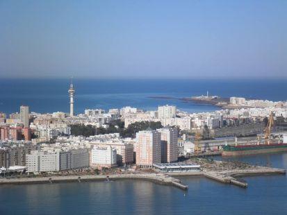 La bahía de Cádiz.