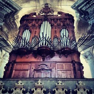 El organo de la catedral.