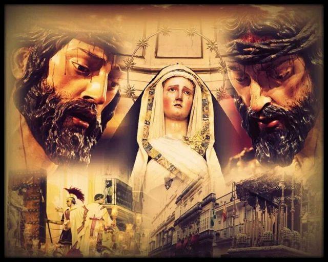 Nuestra Señora de las Angustias acompañando a nuestro Padre Ecce Homo