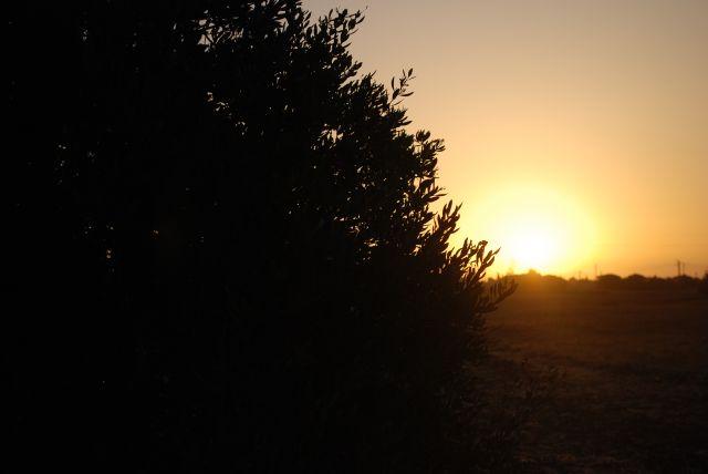 Amaneciendo desde Chiclana de la Frontera, Cádiz.