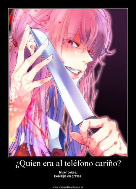 Yuno gasai mirai nikki glace7z twin princess monster for Imagenes de anime gore