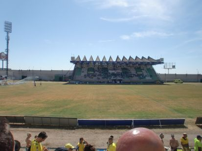 Estadio de Caceres. Vaya tela.